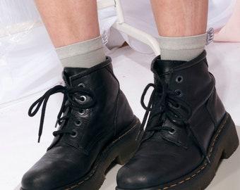 ecc14a36f8b4 Vintage rare Dr Martens boots 90s black leather platforms 90 s vntg chunky Doc  Martens Grunge boots Platform boots
