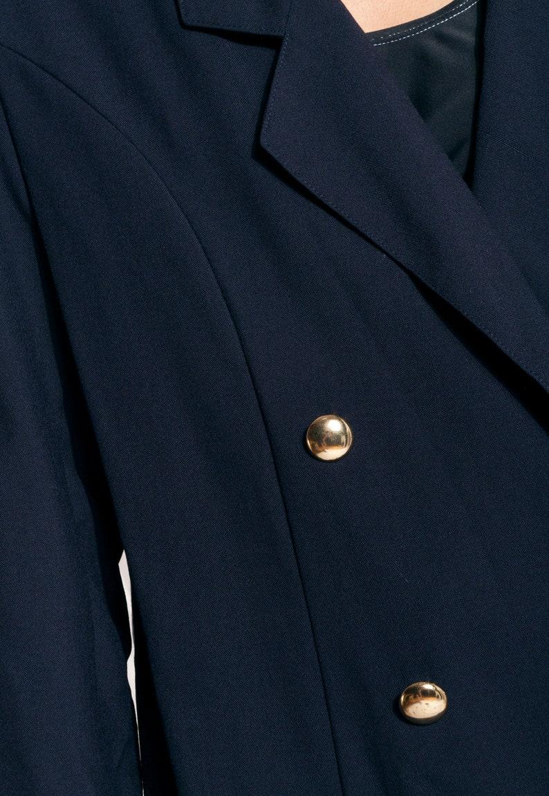 Vintage jacket 80s oversized dark blue grunge chunky blazer
