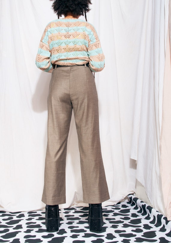 Vintage Trousers 90s Reworked Wide-leg Flare Suit… - image 4