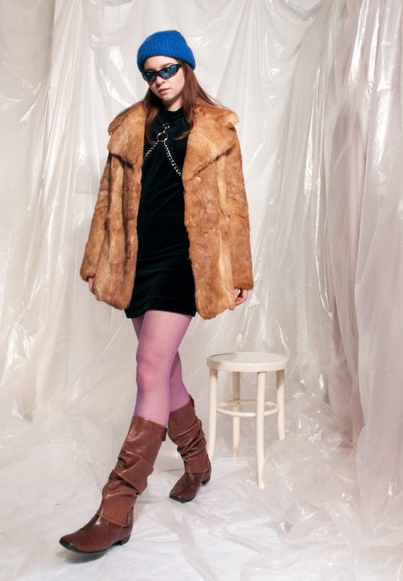 Vintage fur coat 70s Penny Lane soft real fur jack