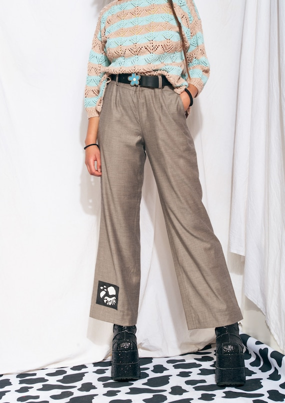 Vintage Trousers 90s Reworked Wide-leg Flare Suit… - image 6