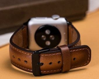 apple watch band 38mm, 42mm apple watch band, leather watch strap 38mm, iwatch strap, brown watch band, apple watch band for series 1 -2-3