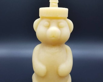 Honey Bear Classic Candle - 100% Pure Beeswax