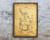 Barber Chair Rollert Vintage Poster, Vintage Poster, Boats Patent Prints, Drawing Decor 1041