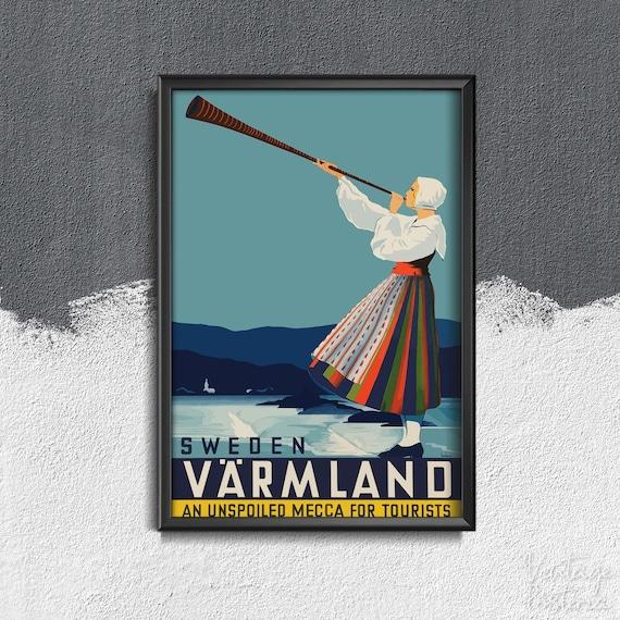 Vintage Morlaix France Tourism Poster A3//A4 Print