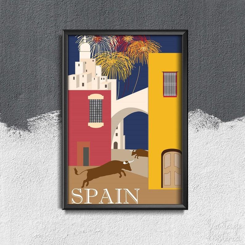 Spain Travel Print Vintage Poster Modern Wall Decor World Travel Art #257 Summer Travel Poster