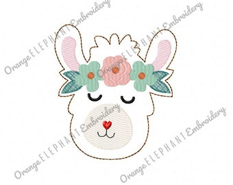 Llama Machine Embroidery Design Digital File