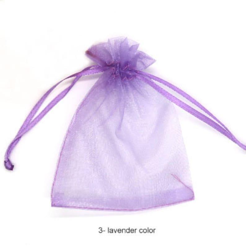 image 0  sc 1 st  Etsy & 20 pcs 3x2 inch mesh bag small gift bag lavender organza | Etsy