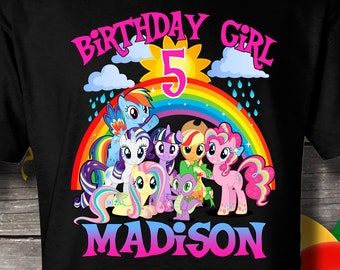 90f55c7684728b My Little Pony Birthday Shirt