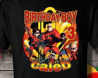 fe7a228da Incredibles birthday Shirt, Incredibles Birthday T-Shirt, Incredibles  birthday, Incredibles, Disney, Pixar, Shirt, Birthday
