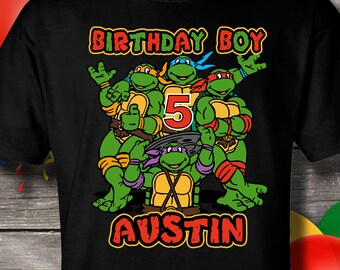 d5cd77bd Ninja Turtles birthday shirt, Teenage Mutant Ninja Turtles Birthday T-Shirt,  Birthday, Tshirt, custom T-shirt, Personalized T-shirt