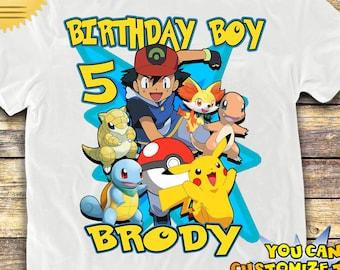 bfd72d9e1f207 POKEMON Birthday Shirt, POKEMON Custom Shirt, Personalized Pokemon Shirt,  Pokemon family shirts, Pokemon Birthday t-shirt, Pokemon Shirt