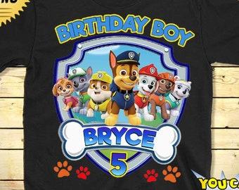 PAW PATROL Birthday T Shirt Paw Patrol Custom Personalized