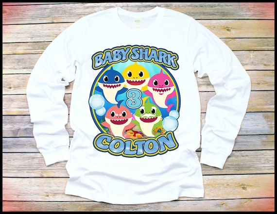 Baby Shark Shirt Long Sleeve Birthday