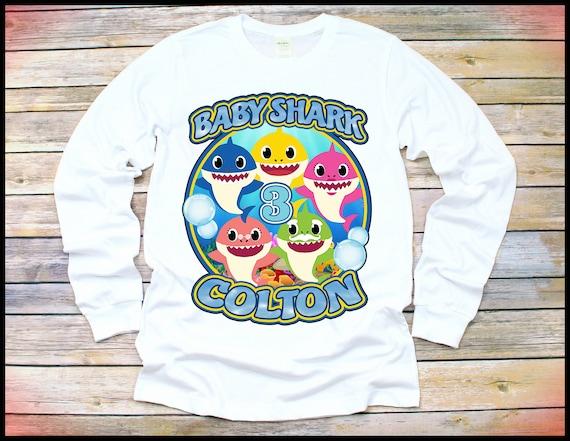 8b26ec7bcb3 Baby Shark Shirt Long Sleeve Baby Shark Birthday Shirt Baby