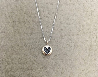 Sterling Heart Ash Necklace