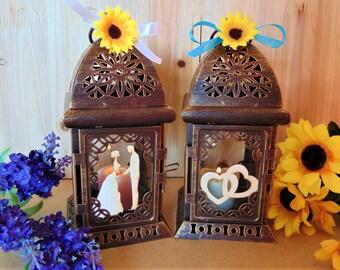 Moroccan Lanterns,Bronze Candle Holders,Wedding Lanterns, Rustic wedding,Wedding Lighting,Rusic lanterns,wedding centerpiece,home decor