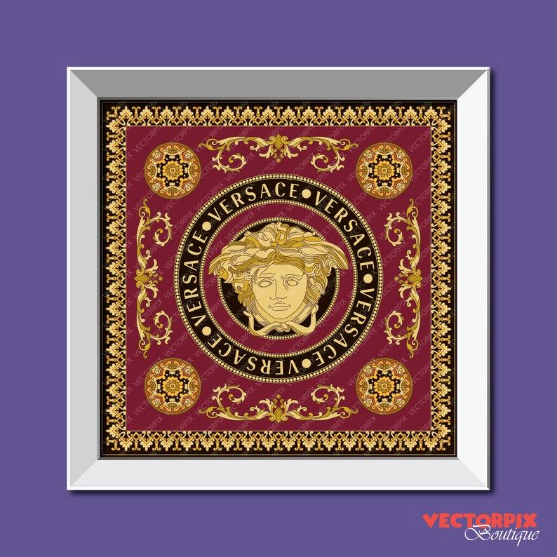 ac7ef26d7b Versace Medusa Instant Digital Download Versace Ornament | Etsy