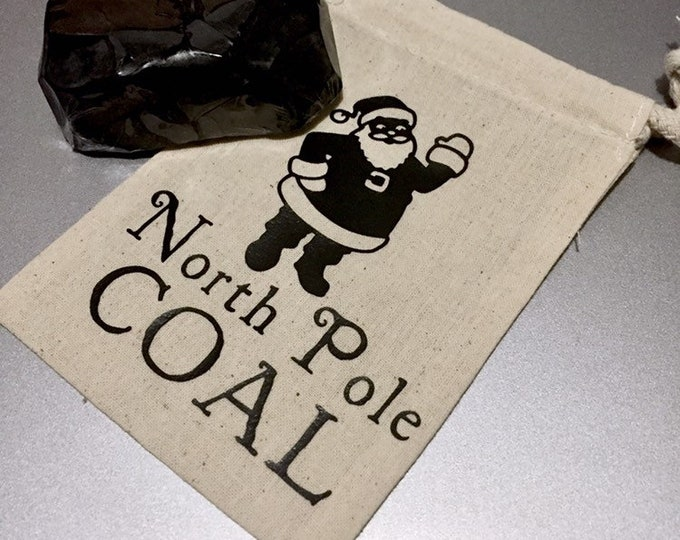 Lump of Coal Soap / Charcoal Soap / Gag Gift / Ships free