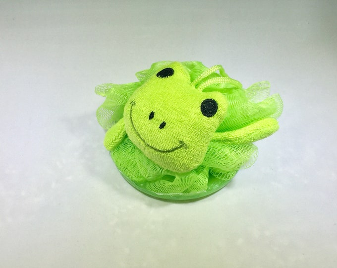Frog Loofah & Soap Combo for Kids / Gift / Natural Soap