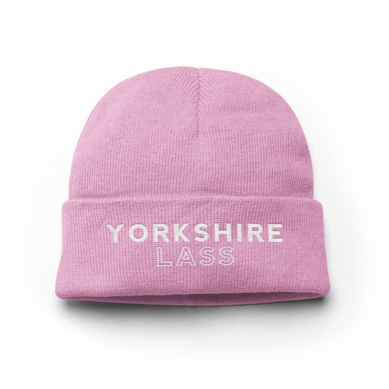 06ddfdaa Yorkshire Lass Pink Knitted Beanie Hat Regional Gifts /   Etsy