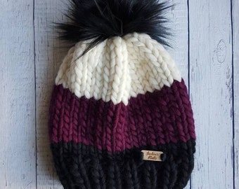 Luxury Collection / WOCxWAK Hat / 100% Wool Beanie / Toque / Women's Hat / Winter Hat / READY TO SHIP