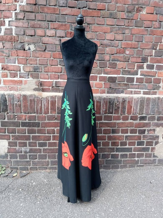 Vintage Maxiskirt Poppies