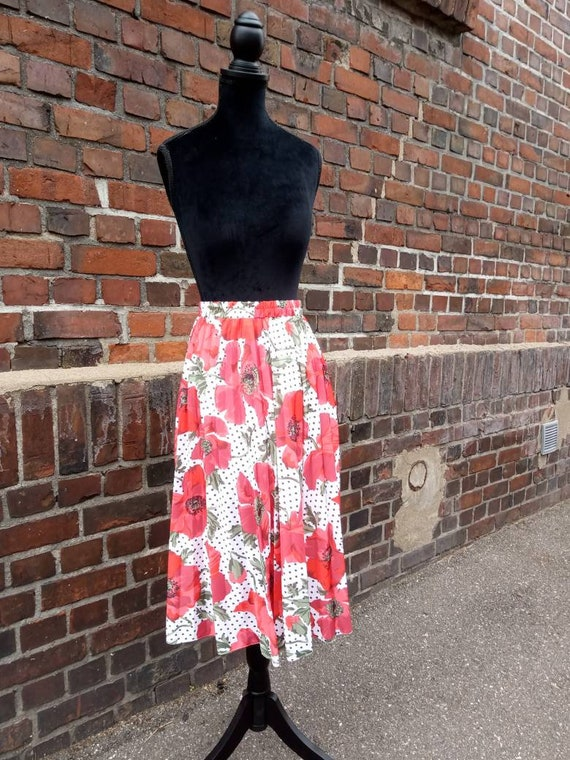 Vintage Midiskirt Poppies