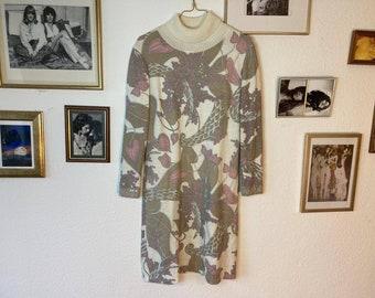 Original 70s knit dress pastel
