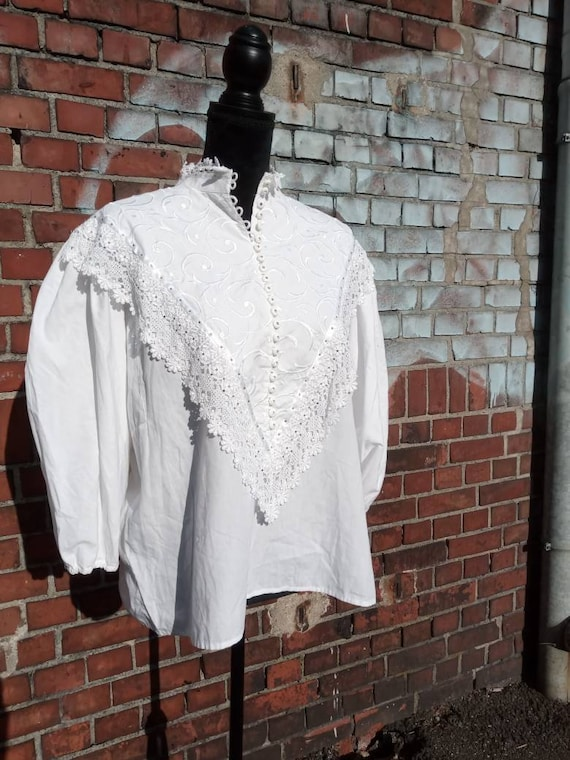 80s folklore blouse