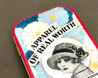 """Artist Book in a Tin """"Apparel of Real Worth"""""""