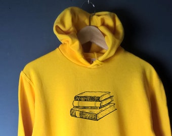 Book sweatshirt, book lover gift, literary gift print cute sweater pastel colours bright colors workout clothes reading sweater