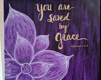 You Are Saved by Grace - Canvas