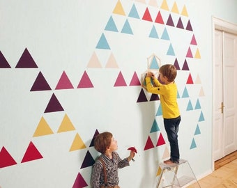 Сolorful triangle stickers Wall Decal triangles