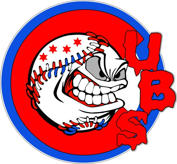 6 Bumper Patch Window Poster Sizes Chicago Cubs Vinyl Sticker Chicago Cubs car Decal