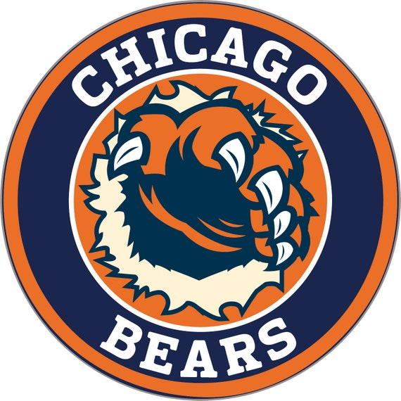 a Chicago Bears vinyl sticker for skateboard luggage laptop tumblers car