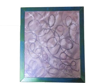 Custom Etched Random Swirl Pattern Metal Sign Wall Art With an Iridescent Finish