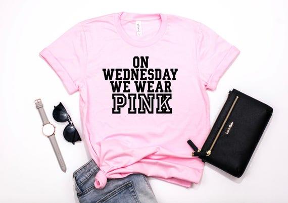 938c97d1d71b On Wednesdays We Wear Pink//Mean Girls Shirt//Wednesday | Etsy
