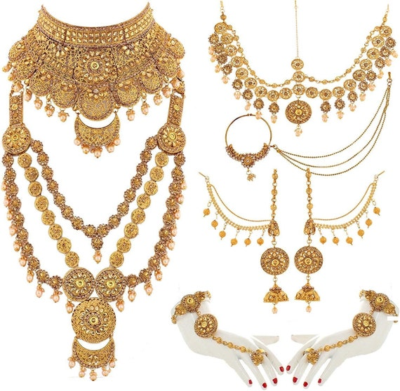 Heavy Full Bridal Jewelry Set Bollywood Jewelry Jodha Etsy