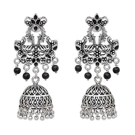 Bollywood Indian Jewelry Big Dangle And Drop Hoop Earrings Kundan Long Earrings Light Weight Long Kaleera Earrings Chandelier Earrings
