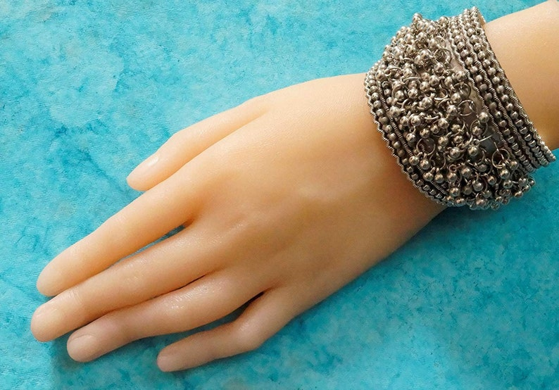 Ghungroo Bells Kada Bangle Bracelet | Indian Jewelry For Women And Girls |  Kada Bracelet | Bangle | Oxidised Jewelry | Bracelet For Women |