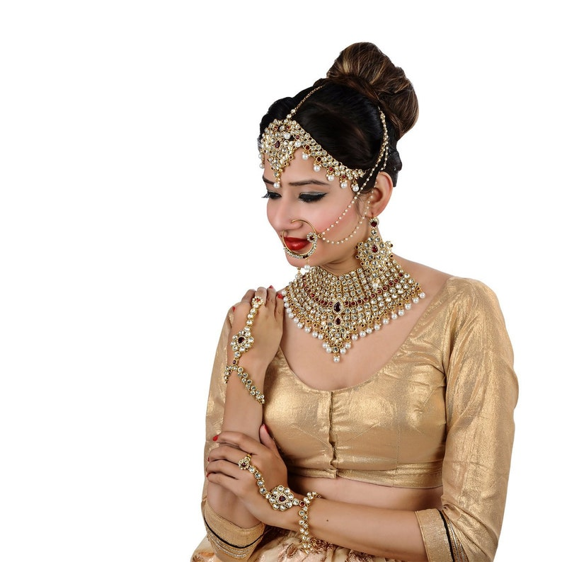 Jewelry Bridal Dulhan Wedding Jewellery Set   Bollywood Jewelry   Indian  Bridal Jewelry   Bride Jewelry Set   Indian Jewellery
