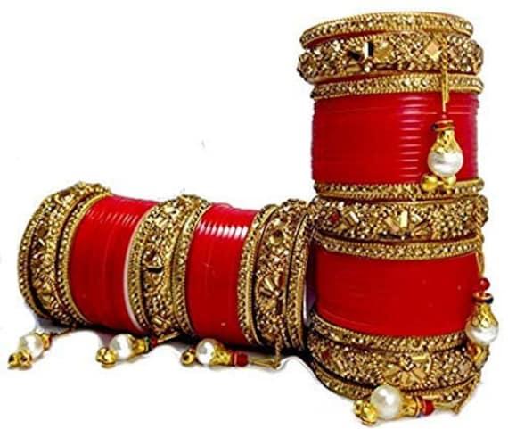 Indian Bridal Chura/Choora Bangles Heavy Bridal Chooda   Etsy