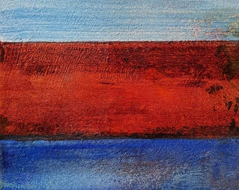 Abstract painting.. Blue-Red