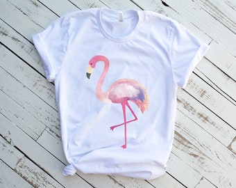 575d32c5e502b Flamingo Shirt - Graphic Tee - For Women -Flamingo Graphic Tee - Vacation  Shirt - Hawaii Vacation Shirts - Hawaii Shirt - Flamingo