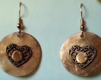 Homemade Riveted Copper earrings.