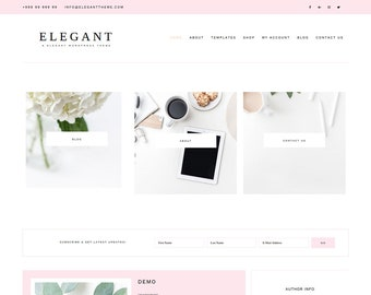 Elegant WordPress, Blog Theme, E-commerce(woocommerce) Theme