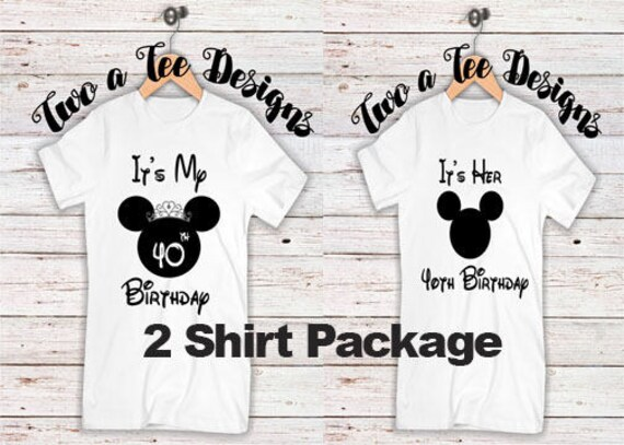 dc77cf00a It's her birthday Couple Combo. Disney themed. Disney   Etsy