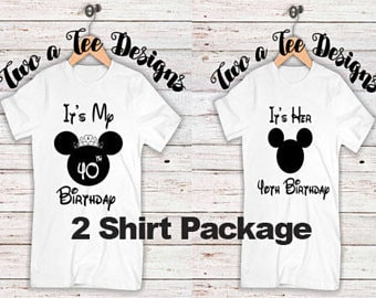Its His Birthday Couple Combo Mens Bday Disney