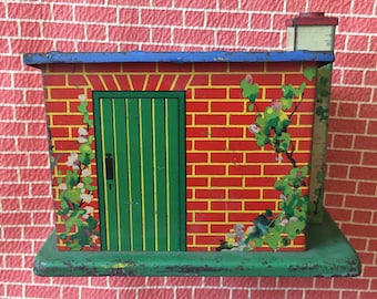 Hornby series O Gauge platelayers hut.tinplate.meccano.pre war vintage.collectable toy